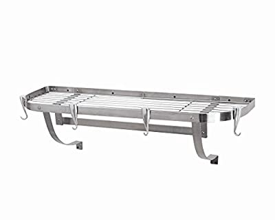 Concept Housewares Large Wall Mounted Stainless Steel Kitchen Rack from PR Housewares