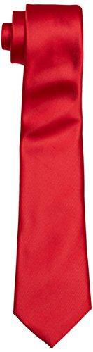 BlueBlack Herren Krawatte Antonio, Einfarbig, Gr. One size, Rot (knallrot 25)