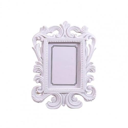 RVSDB - Cornice portafoto ellittica con motivo floreale per foto da tavolo, per matrimoni e decorazioni per la casa, idea regalo