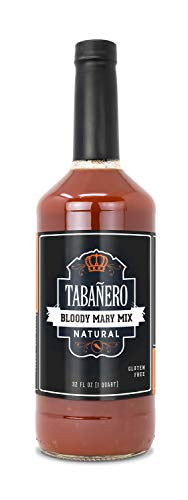 Tabañero Bloody Mary Mix, All Natural, Gluten Free, 32oz. Bottle