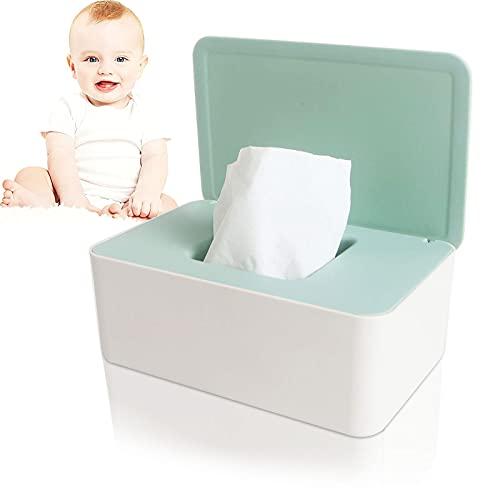 Caja de Pañuelos de Papel , Dispensador toallitas bebe, Caja de Toallitas Húmedas, Caja De Servilletas , Caja de Almacenamiento de pañuelos a Prueba de Polvo, para Oficina o Casa