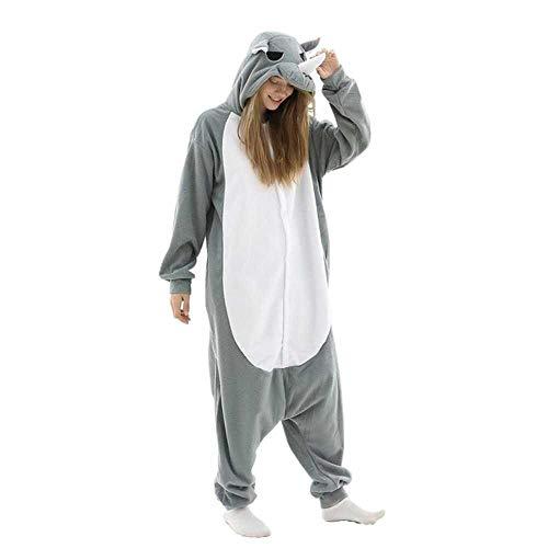 JIAWEIDAMAI Traje De Pijama Animal Pijama De Rinoceronte Fleece Adulto Ropa De Invierno