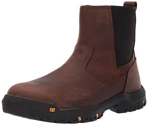 Caterpillar Men's Wheelbase Steel Toe Industrial Shoe, Clay, 09.5 W US