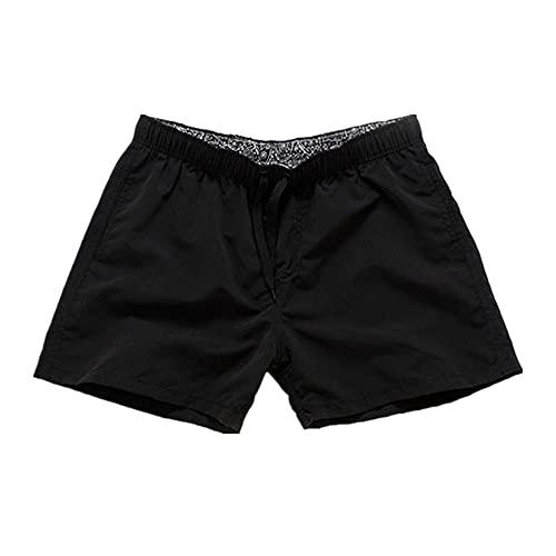 Pantalones cortos de verano de los hombres de color sólido pantalones cortos de los hombres sueltos ropa de