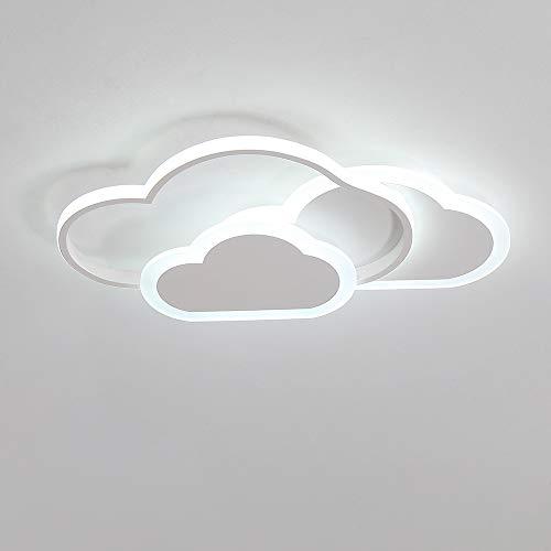 Luz de techo LED, lámpara de techo nube creativa, 32W 2700lm 42cm, blanco frío 6000K, luces de techo blancas modernas Aplique de pared para sala de estar Pasillo de dormitorio y habitación de infantil