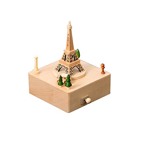 Shangfu Decoration Home Decoration Music Box Wooden Retro Dance Sky Castle Craft House DIY