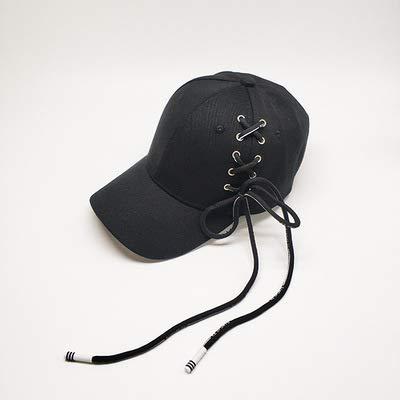 wtnhz Artículos de Moda Gorra de béisbol con Correa Larga Gorras Negras Salvajes Gorras de Hip-Hop con Personalidad Sombreros Hipster para Hombres y mujeresRegalo de Vacaciones