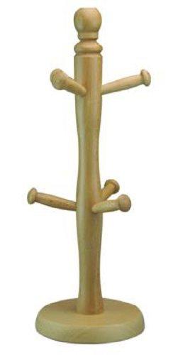 Apollo - Albero portatazze in legno di carpino, per 6 tazze