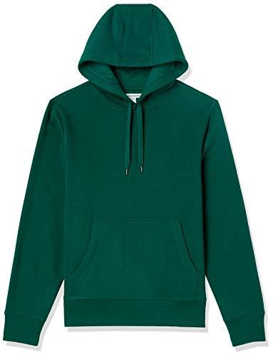Amazon Essentials Fleece Pullover Hooded Sweatshirt Sudadera, Verde Bosque, S
