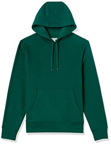 Amazon Essentials Sudadera de Forro Polar con Capucha para Hombre. Fashion-Sweatshirts, Verde Bosque, US S (EU S)