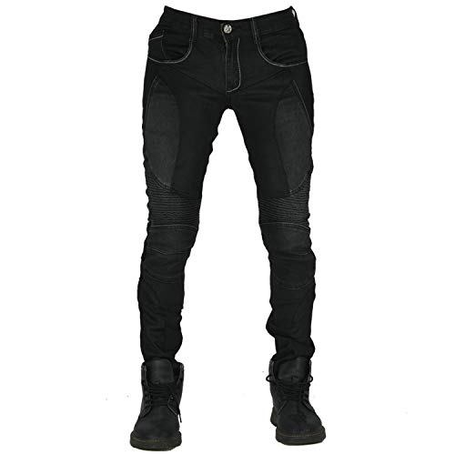 QINYA Pantaloni Da Moto Anti-caduta Da Locomotiva Estiva Pantaloni Da Moto Traspiranti Da Moto Pantaloni Da Ciclismo Da Donna (black,M)