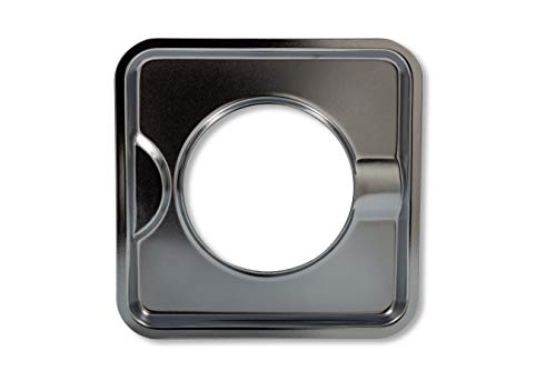 Camco 00373 7-3/4 Square Gas Drip Pan (Chrome) by Camco
