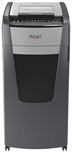 Rexel Optimum Autofeed Destructora de Papel de Alimentación Automática y Corte en Partículas P4, 600 Hojas, Papelera de 110 L, con Ruedas, 2020600X