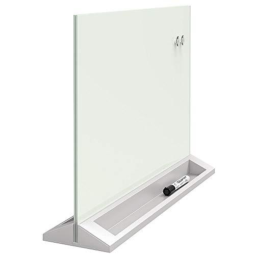 "Quartet Glass Whiteboard Desktop Panel, Magnetic, 17"" x 23"", Dry Erase Surface, White (GDP1723W)"