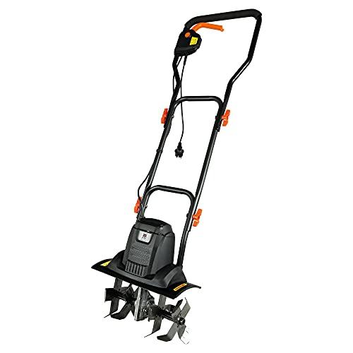 DELTAFOX Elektro Bodenhacke Gartenhacke Gartenkultivator Gartenfräse Motorhacke elektrisch - 750 W - 2 Arbeitsbreiten 19 + 36,5cm - Tiefe 20cm - 16 Messer - 8,5kg leicht
