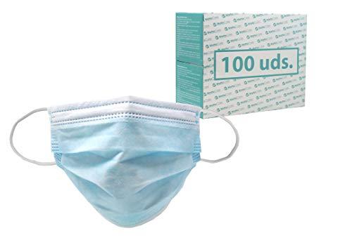 WottoCare Mascarilla Quirúrgica Tipo II R, Mascarilla Protección, Desechable. 3 capas. BFE superior al 95% Mascara Facial No estéril (100)