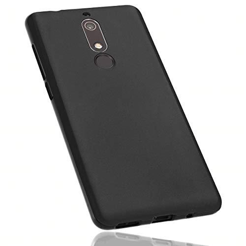 mumbi Hülle kompatibel mit Nokia 5.1 2018 Handy Hülle Handyhülle, schwarz, 26709-Nokia 5.1