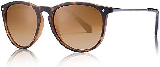 Carfia Vintage Polarized Sunglasses for Women UV400 Protection Classic Retro Style