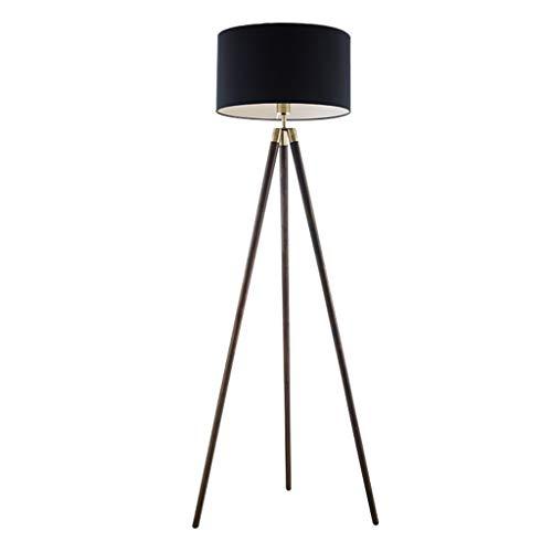 NYKK Lámpara de pie Lámpara de pie de Madera Maciza Creativa Sala de Estar en casa Estudio Triángulo Lámpara de pie Vertical Lámpara de Piso