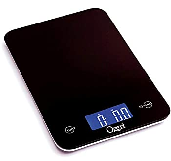 Ozeri Touch Professional Digital Kitchen Scale  12 lbs Edition  Tempered Glass in Elegant Black