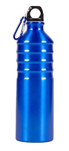 Subke Fitness Trinkflasche Sportflasche aus Alu zum Joggen Radfahren etc. blau metallic