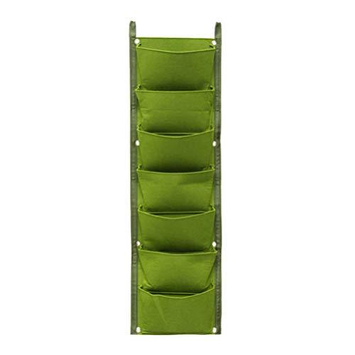 Yardwe 7 Pocket Wand Pflanztasche Vliesstoff Pflanzsack Vertikale Hängende Pflanzbeutel zum Aufhängen Pflanzgefäß Bepflanzung Taschen für Balkon Hof Home Garten Dekoration