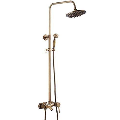 PYROJEWEL Antiguos Grifería juego de ducha del baño de ducha ducha montado en la pared latón cabezal de ducha