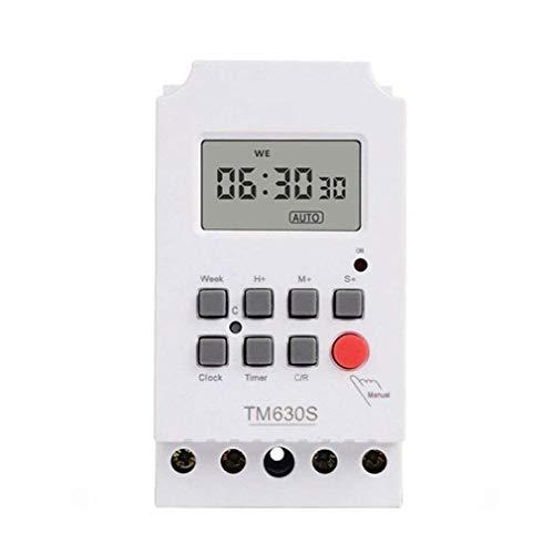 Interruptor temporizador TM630S-2 de alta potencia de 220V Segunda programable de control LCD digital temporizador Circuito Controler