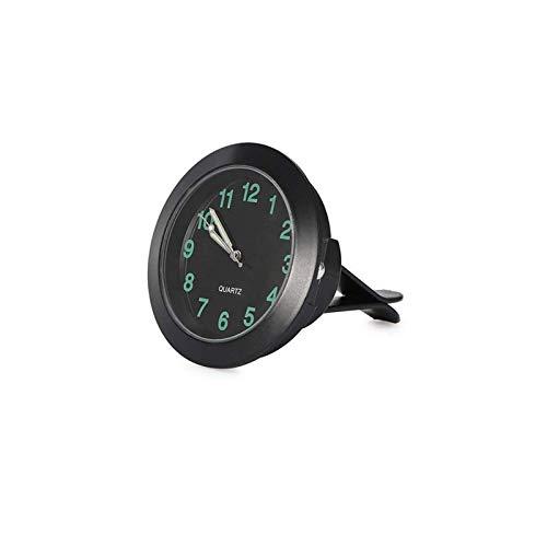 REACHS Car Dashboard Clock Cars Air Vent Clip Quarz Clocks Mini, Luminous Quartz Analog Watch,Universal Pocket Stick-On Clock,Perfect Decoration for Cars/Boats/Bikes/Auto/Home