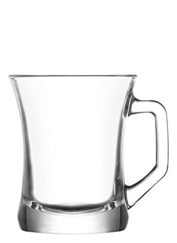 6 Tlg. LAV Zen+ ZPL404 Tee Gläser mit Griff Latte Macchiato Cay Bardagi
