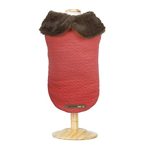 Capa Warm - Vermelho - P (Pesc 32 x Peit 34 x Comp 27 cm), Agridoce Pet
