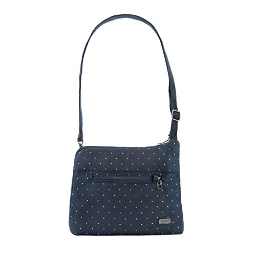 Pacsafe Daysafe Anti-Theft Slim Crossbody Bag Navy Polka Dot One Size