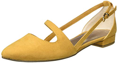 Marco Tozzi 2-2-24208-34, Zapatos con Tacon y Correa de Tobillo Mujer, Amarillo (Curry 610), 39 EU
