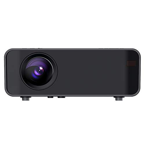Mini Projector Portable HD LED Video Projector USB HDMI Diffuse Reflex Imaging 480P 30000 Hours for Home Theater Movies,Built-in Composite Diaphragm Large Volume Speaker(UK)