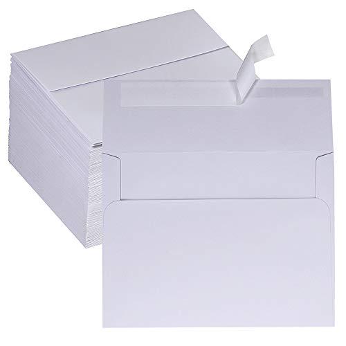 Supla 150 Pcs 4 3/4 x 6 1/2 Envelopes A6 Envelopes Invitation Envelopes Greeting Cards Envelopes Self Seal White Envelopes for Wedding Party Birthday Holiday Mailing Greeting