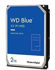 WD Blue 2 TB PC dysk twardy - klasa 5400 RPM, SATA 6 Gb/s, pamięć podręczna 256 MB, 3,5 cala - WD20EZAZ
