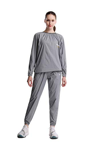 DNRZY F.I.T Sweat Sauna Exercise Gym Fitness Weight Loss Clothes top Pants Clothes Suit (GG,XXL)
