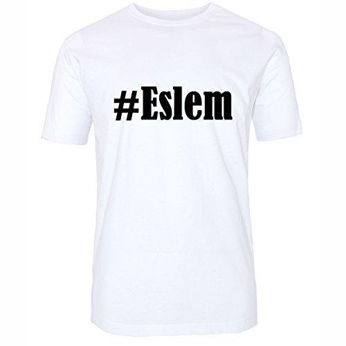 T-Shirt #Eslem Größe 2XL Farbe Weiss Druck schwarz