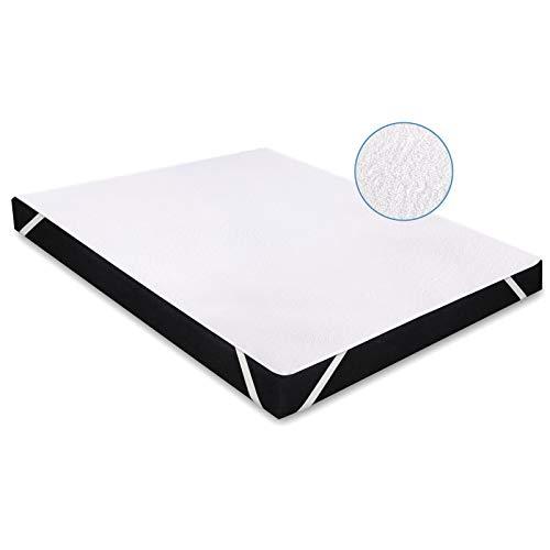 Karcore Matratzenschoner Wasserdichter Atmungsaktive Matratzenauflage, gegen Milben, Anti-Allergie Matratzenschutz (90 x 200 cm, 1er Set)