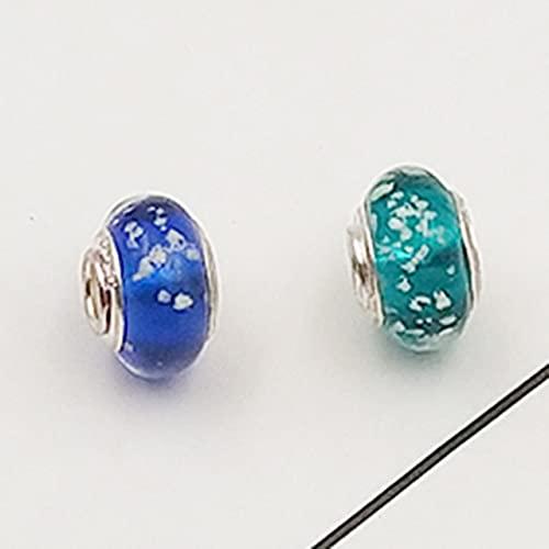 JDSTY Cuentas de vidrio luminoso encanto ajuste original pulsera brazalete moda collar joyería para mujeres hombres regalos
