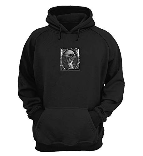 In Greed We Trust Dollar_KK022652 Hoodie Fan Art Design Sweater Fashionable Hoodies Cotton Christmas - XL - Black