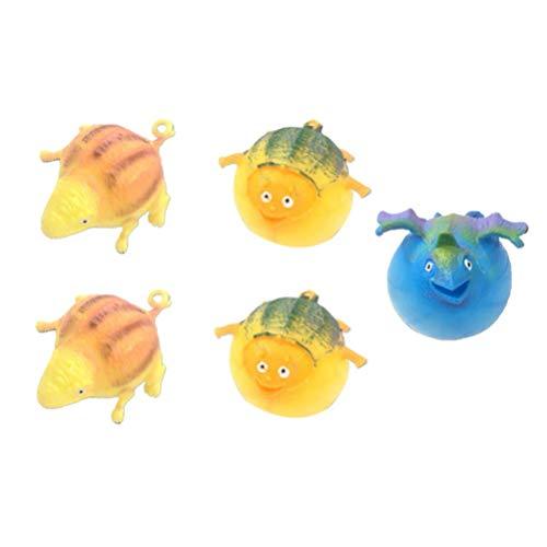 5pcs Blowing Stressball Tiere Spielzeug aufblasbaren Ballon Stress Relief Squeeze-Kugel Weiche Dekorative Tricky Spielzeug for Kinder Kinder ToddlersRandom Farbe zcaqtajro