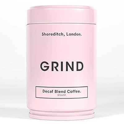 Grind Organic Coffee, Decaffeinated Ground Coffee Beans for Coffee Machine - 227g Coffee Tin