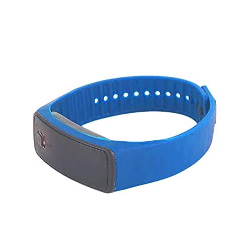 Nrew Creativo LED Pulsera de Silicona Pulsera Moda Fitness Deportes Banda Reloj Azul