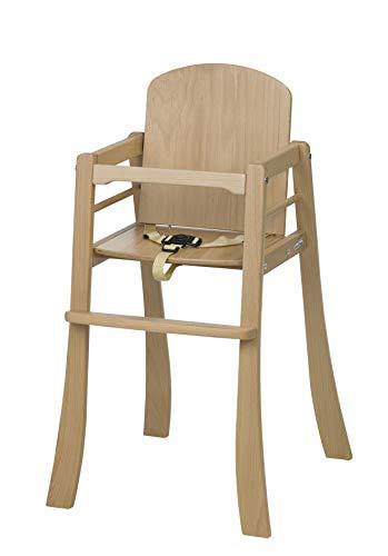 Geuther - Hochstuhl Mucki, aus Holz, stapelbar, stabiler Kinderstuhl, natur, 2306 NA