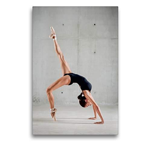 CALVENDO Lienzo Premium de 50 cm x 75 cm de Alto, Bailarina de Ballet en Cuerpo Negro Que Forma tu Cuerpo en un Puente, Imagen sobre Lienzo (Arte, Arte calvento