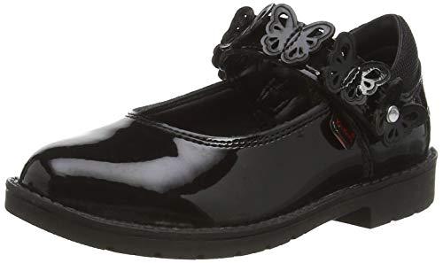 Kickers LACHLY Butterfly MJ, Zapatos para Uniformes de Escuela Bebé-Niñas, Black, 21 EU