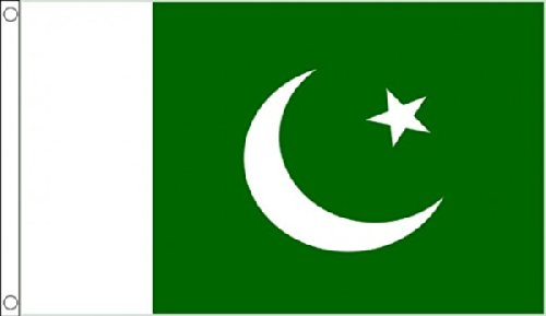 HUGE!!! 8ft x 5ft (240 x 150 cm) Pakistan Pakistani 100% Polyester Material Flag Banner Ideal For Pub Club School Festival Business Party Decoration by UKFlagShop