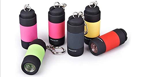 Mini lampe torche portable rechargeable par USB - Porte-clés pour extérieur