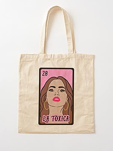 Générique Shes Latina La Toxic Borracha Hot Chicana Mexikan Toxia Woman   Einkaufstaschen aus Segeltuch mit Griffen, Einkaufstaschen aus nachhaltiger Baumwolle